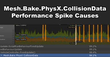 Unity Mesh.Bake.PhysX.CollisionData Profiler Spike