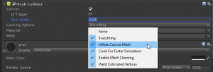 Unity Mesh Collider Inflate Convex Mesh