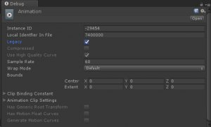 Unity Inspector Animation Clip Legacy Checkbox