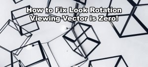 Unity Look Rotation Viewing Vector is Zero