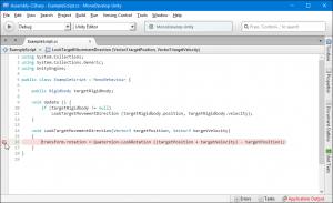 Mono Develop how to add breakpoint